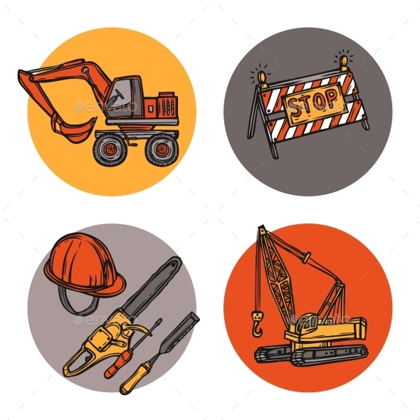 Construction Symbols - Industries Business