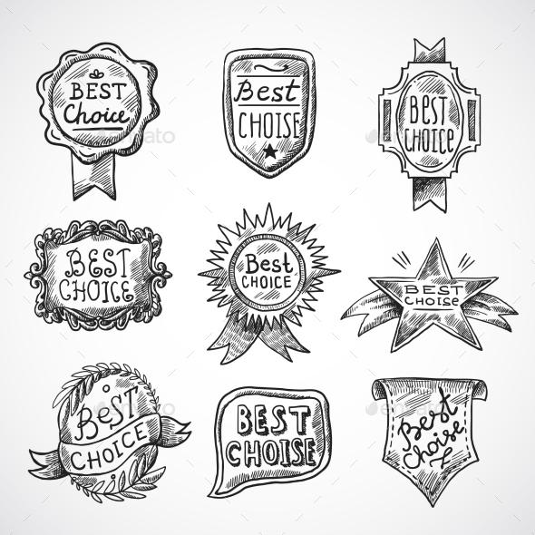 Best Choice Badge - Business Conceptual