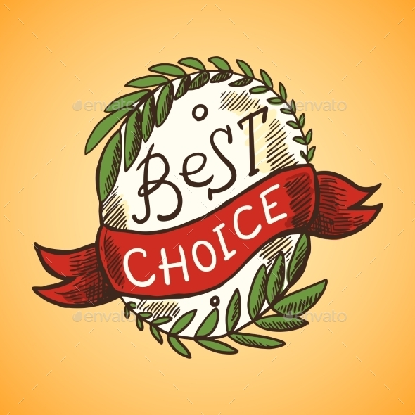 Best Choice Label - Objects Vectors