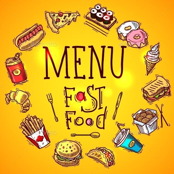 Fast Food Menu - Food Objects