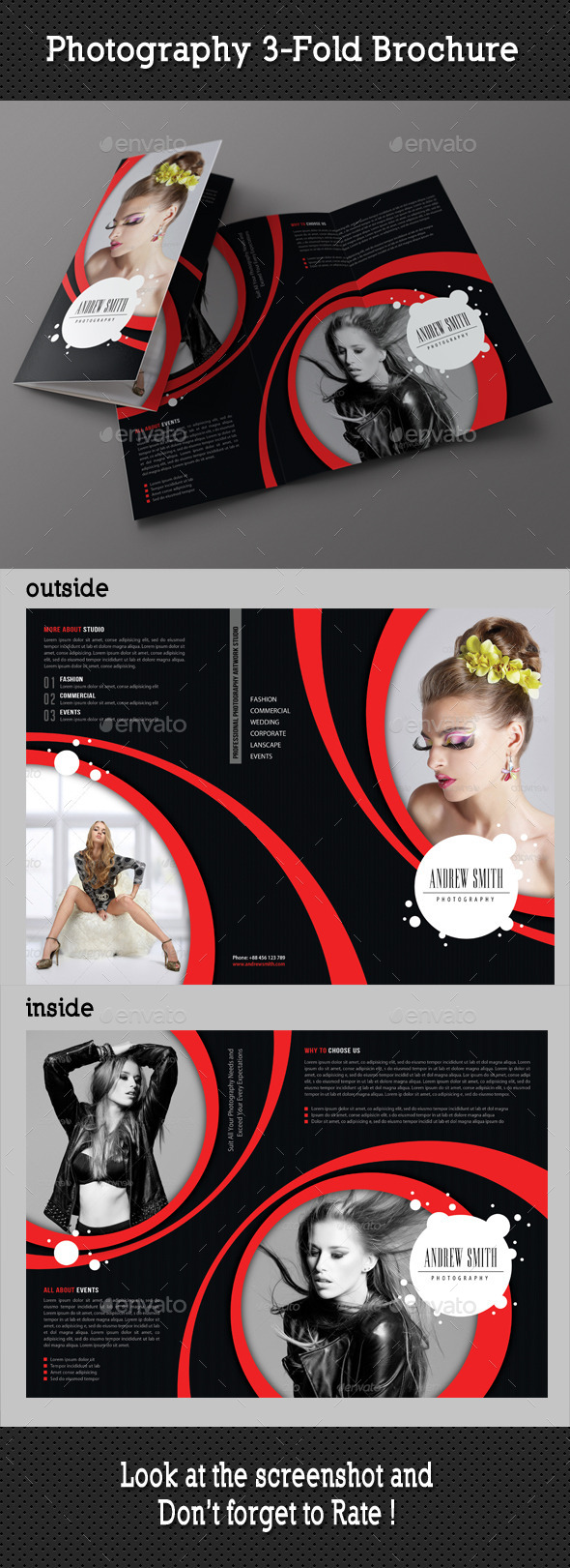 Photography Studio 3-Fold Brochure 03 - Portfolio Brochures
