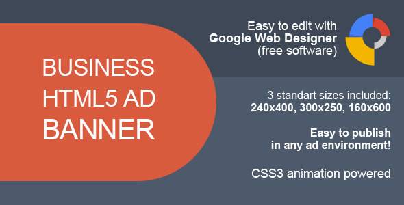 HTML5 Business Ad Banner - CodeCanyon Item for Sale