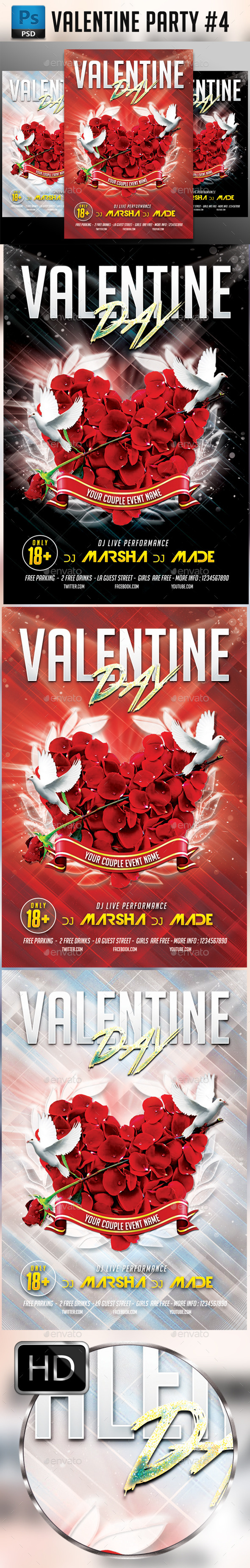 Valentines #4 - Clubs & Parties Events