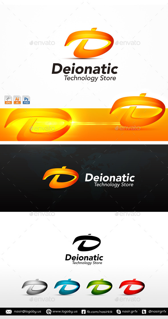 D Letter Logo - Letters Logo Templates