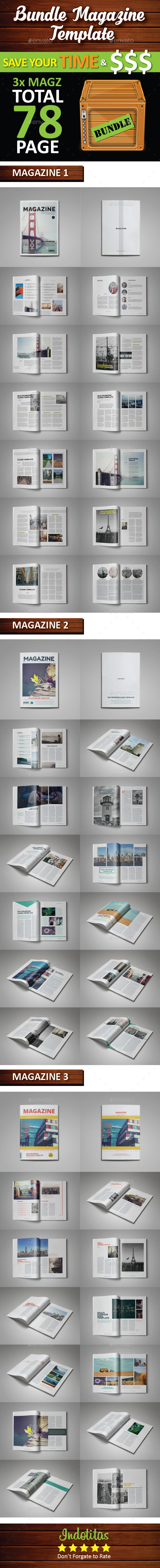 Bundle Magazine Template - Magazines Print Templates