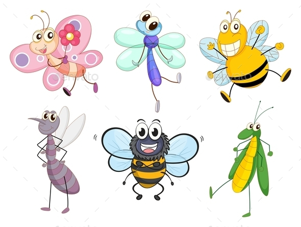 Flying Insects - Animals Characters