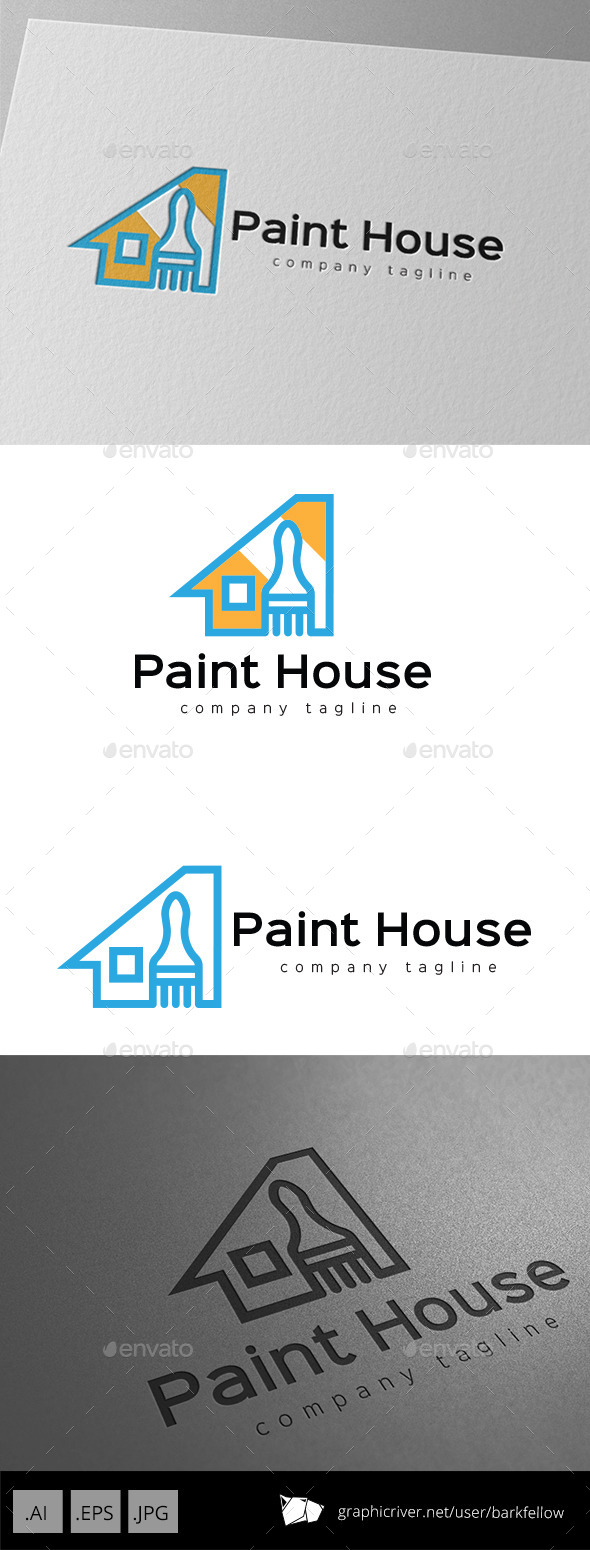 House Paint Logo - Buildings Logo Templates