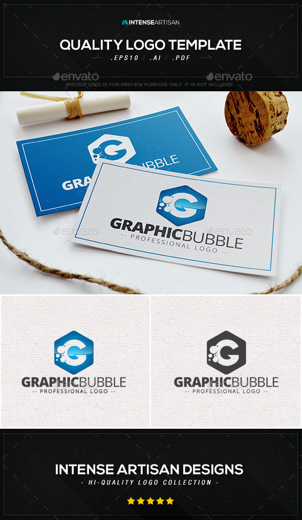 Graphic Bubble Logo Template - Letters Logo Templates