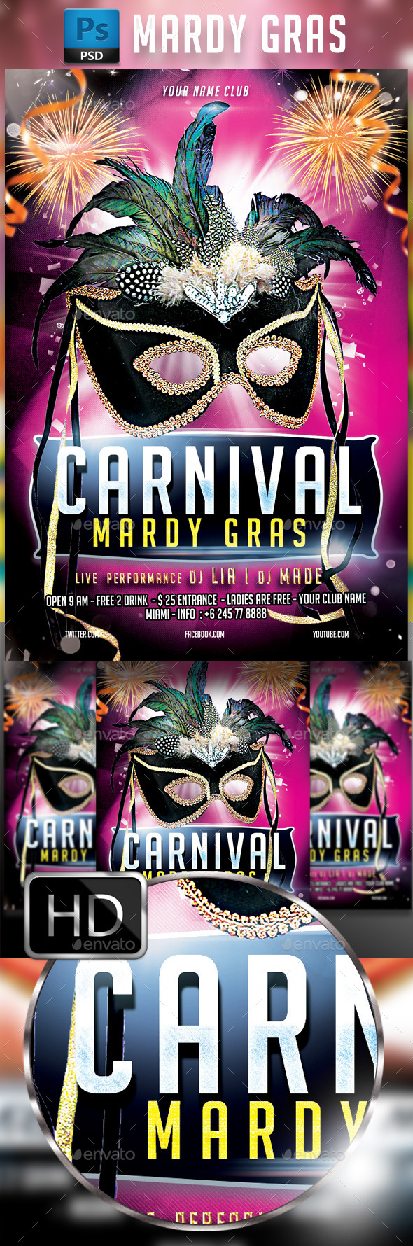 Mardy Gras - Clubs & Parties Events