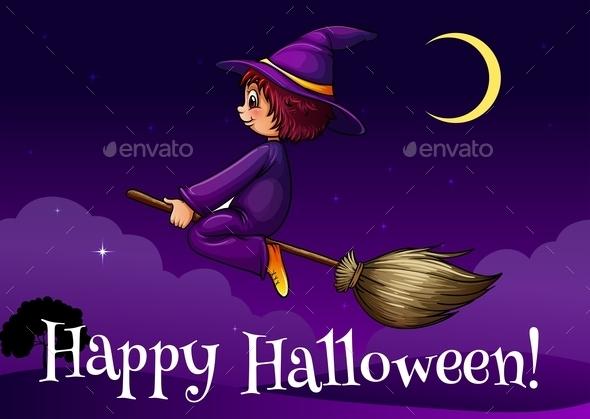 Happy Halloween Template - Halloween Seasons/Holidays
