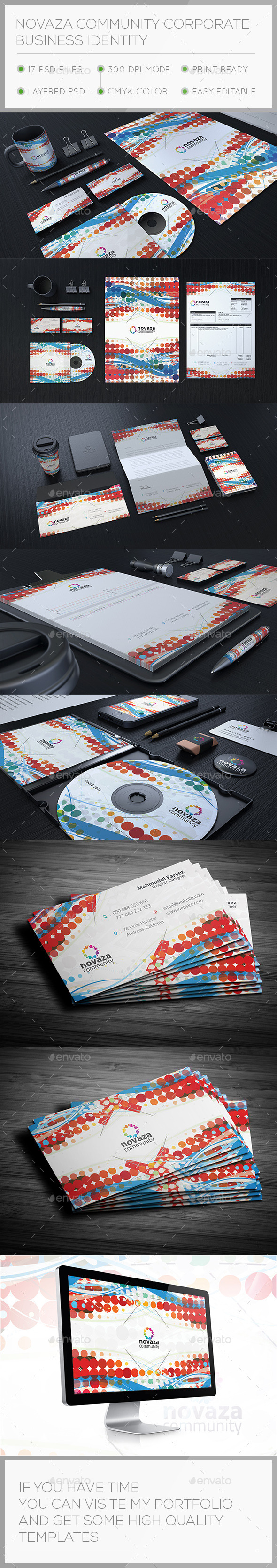 Novaza Corporate Stationary Identity - Stationery Print Templates