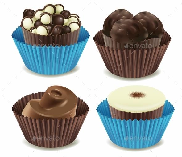 Chocolates - Food Objects