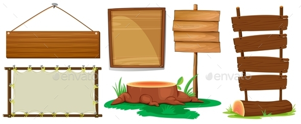 Wooden Signs - Man-made Objects Objects