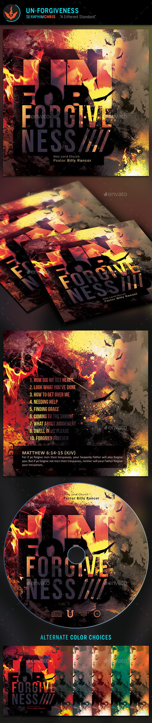 Un-Forgiveness CD Artwork Template - CD & DVD Artwork Print Templates