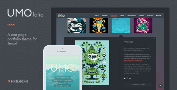 UMO Folio – A One Page Portfolio Theme For Tumblr