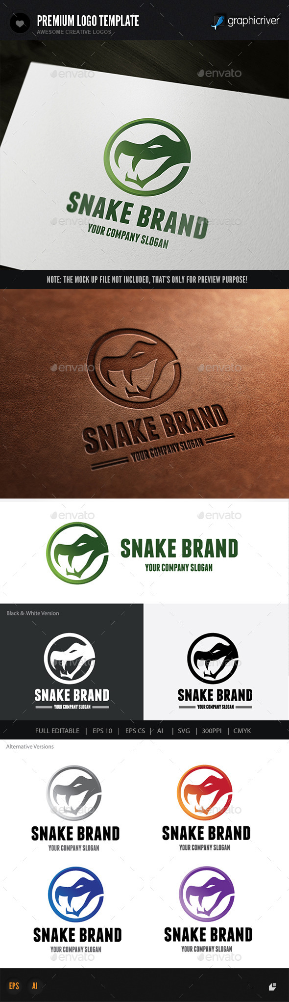 Snake Brand - Animals Logo Templates