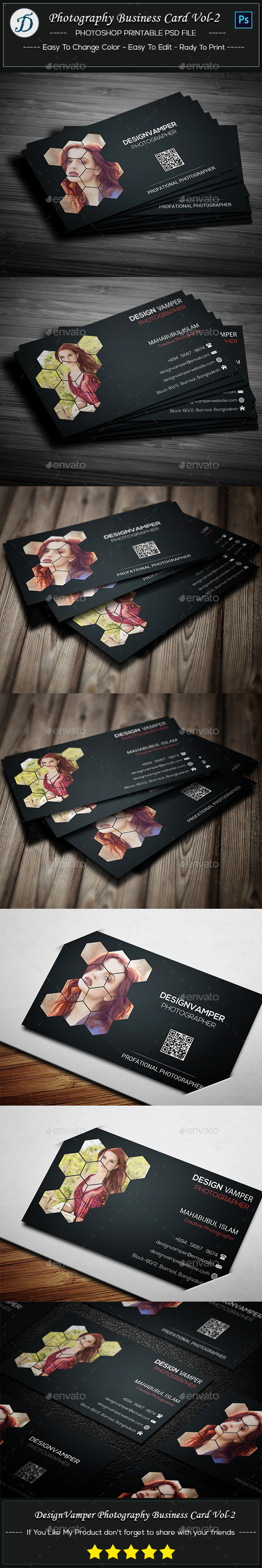 Photographer Business Card Vol-2 - Creative Business Cards