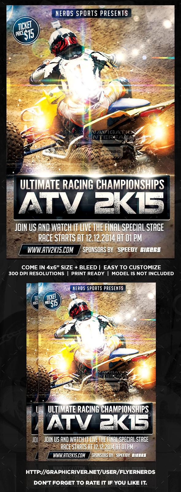 ATV 2K15 Championships Sports Flyer - Sports Events