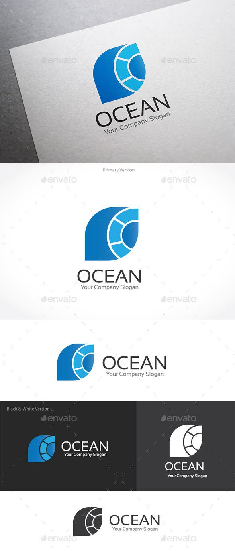 Ocean O letter Logo - Letters Logo Templates