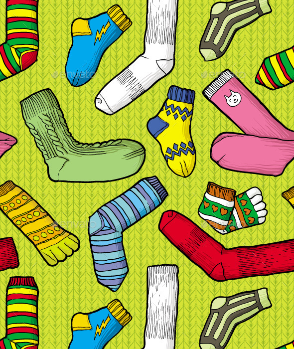 Color Socks - Patterns Decorative