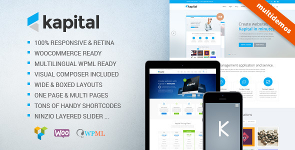 Kapital - Responsive Multi-Purpose Theme - Corporate WordPress