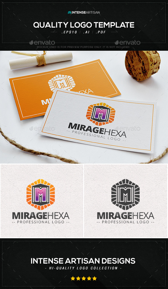 Mirage Hexa Logo Template - Letters Logo Templates