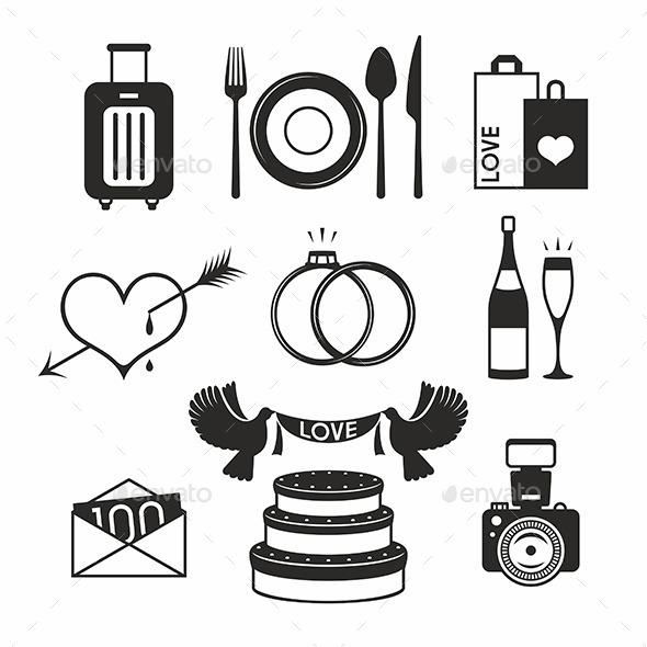 Wedding Set Icon - Weddings Seasons/Holidays