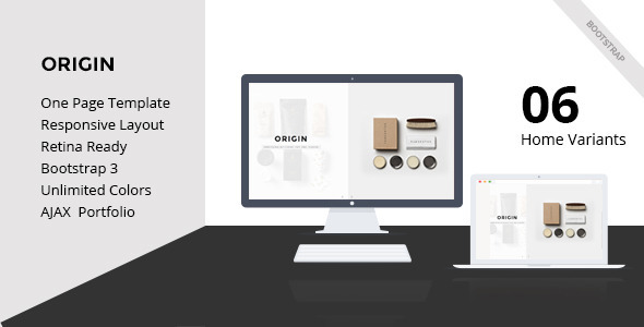 Origin-Creative One page HTML5 Template - Creative Site Templates