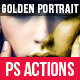 Golden Glossy Portrait Photoshop Actions - GraphicRiver Item for Sale