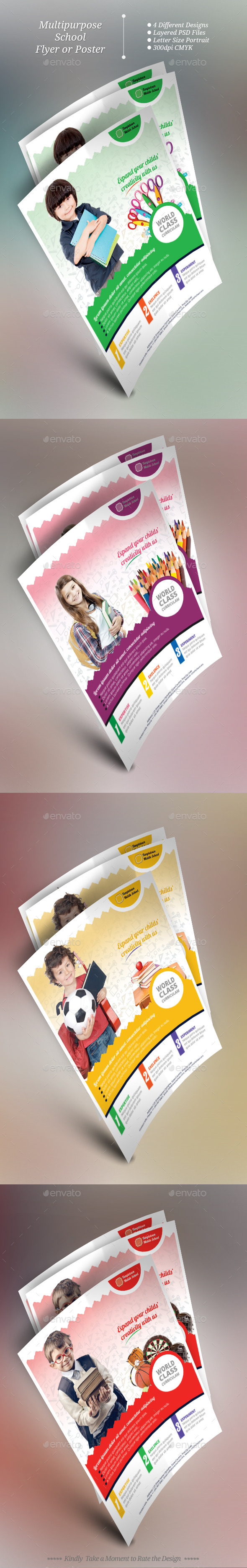 Multipurpose School Flyer Templates - Flyers Print Templates