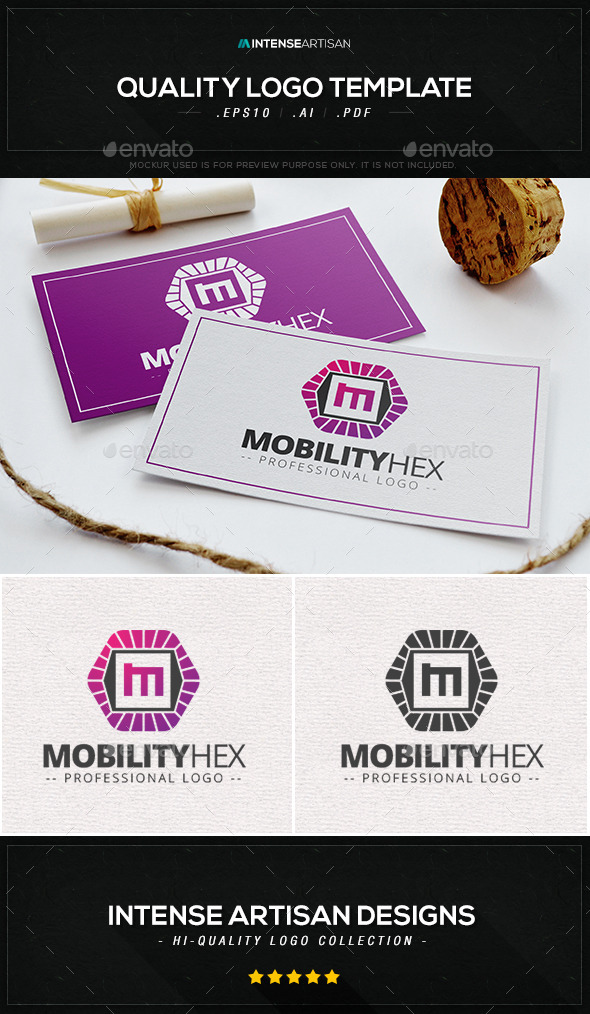 Mobility Hex Logo Template - Letters Logo Templates