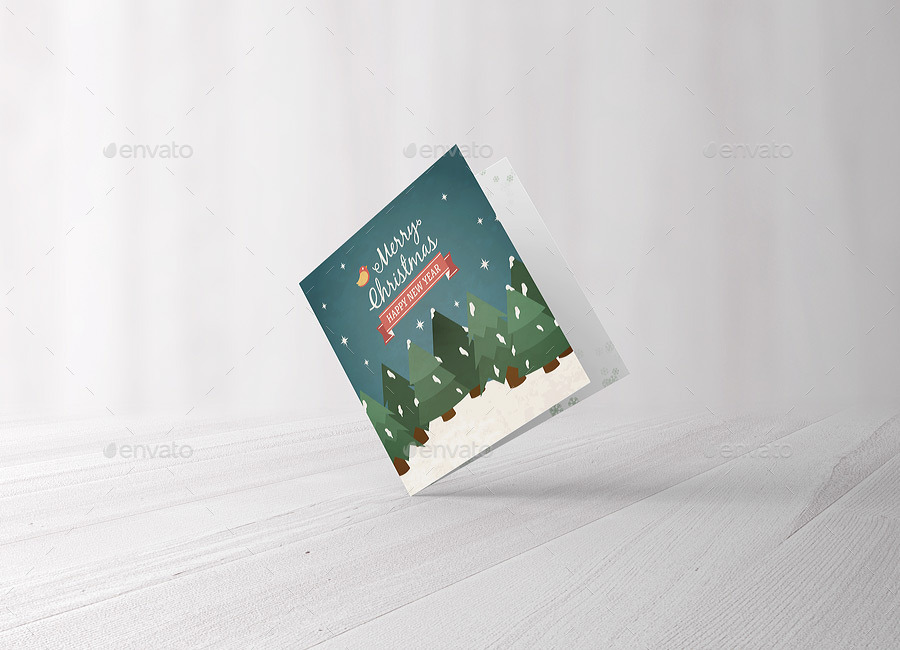 ... 3 Square Greeting Card Mockup ...