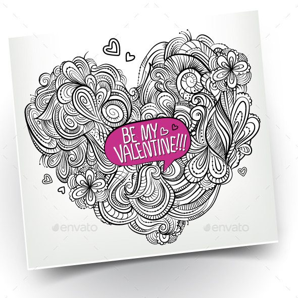 """Be My Valentine"" Postcard - Valentines Seasons/Holidays"