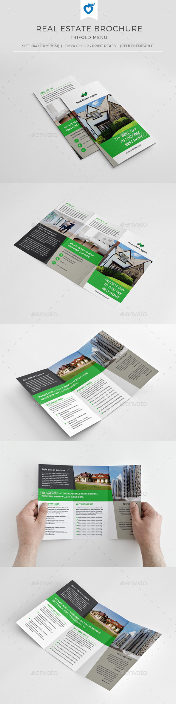Real Estate Trifold Brochure - Corporate Brochures