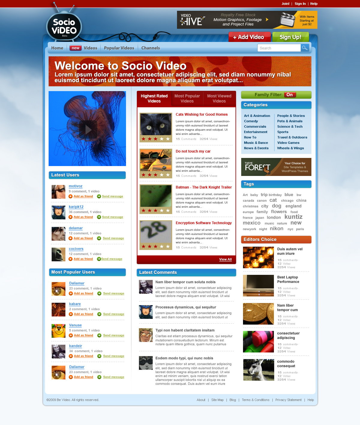 Free Download Socio Video Theme Nulled Latest Version