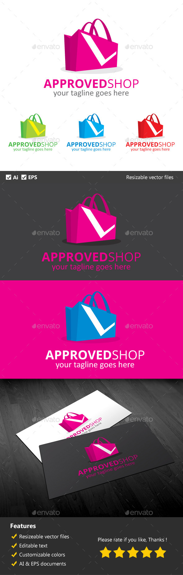 Approved Shop - Objects Logo Templates