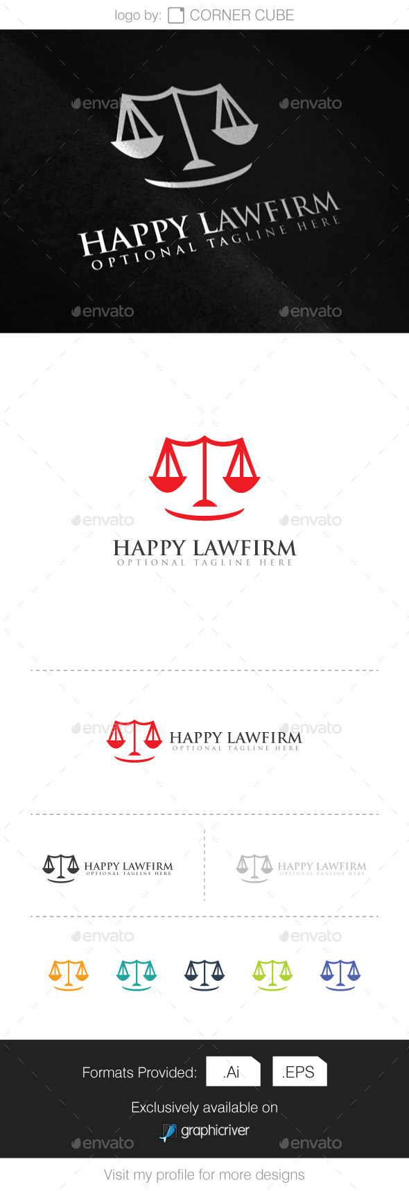 Happy Lawfirm Logo - Logo Templates
