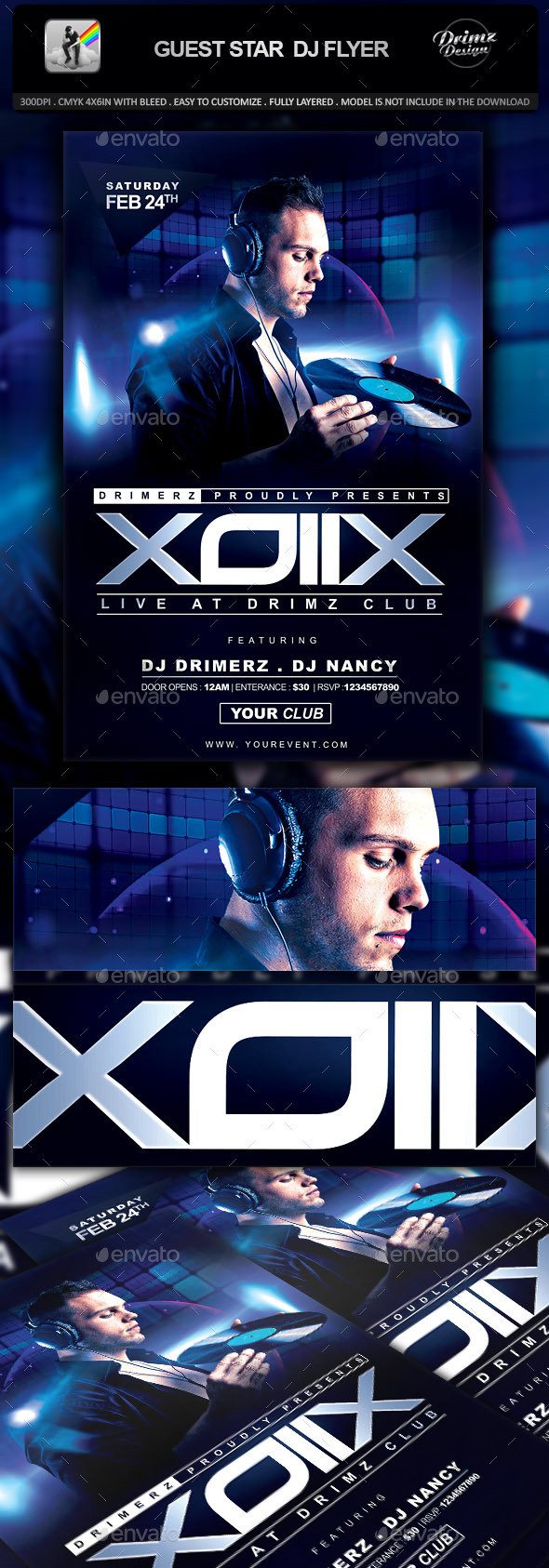 Guest Star DJ Flyer - Events Flyers