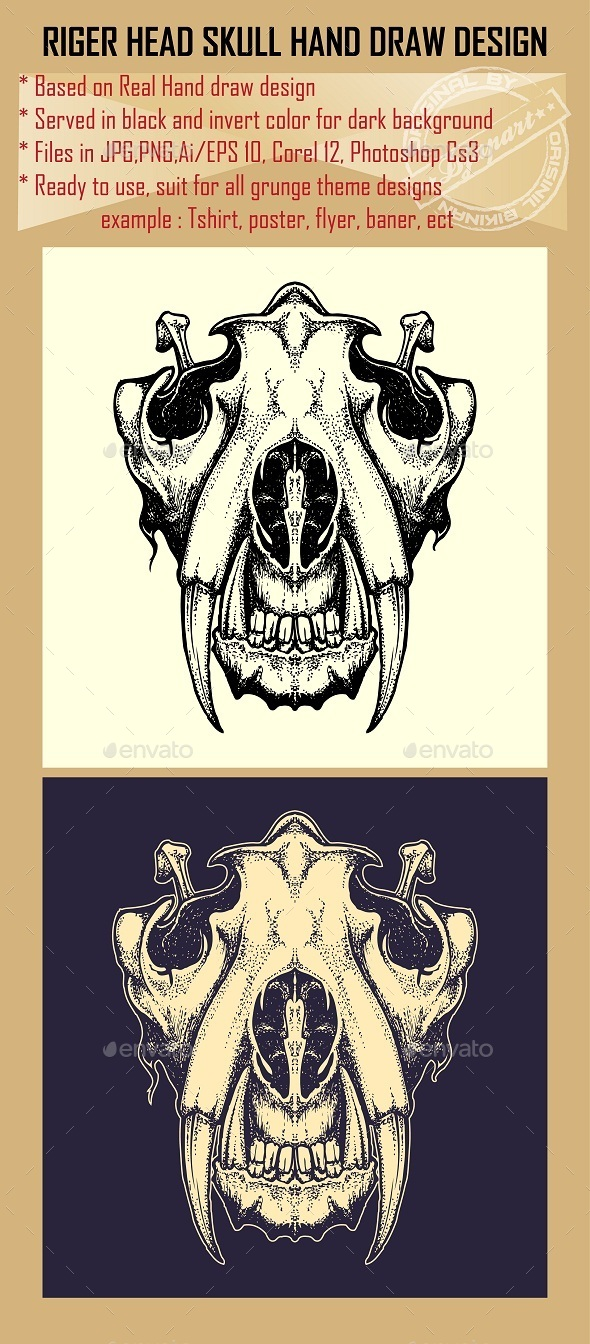 Tiger Skull - Animals Characters