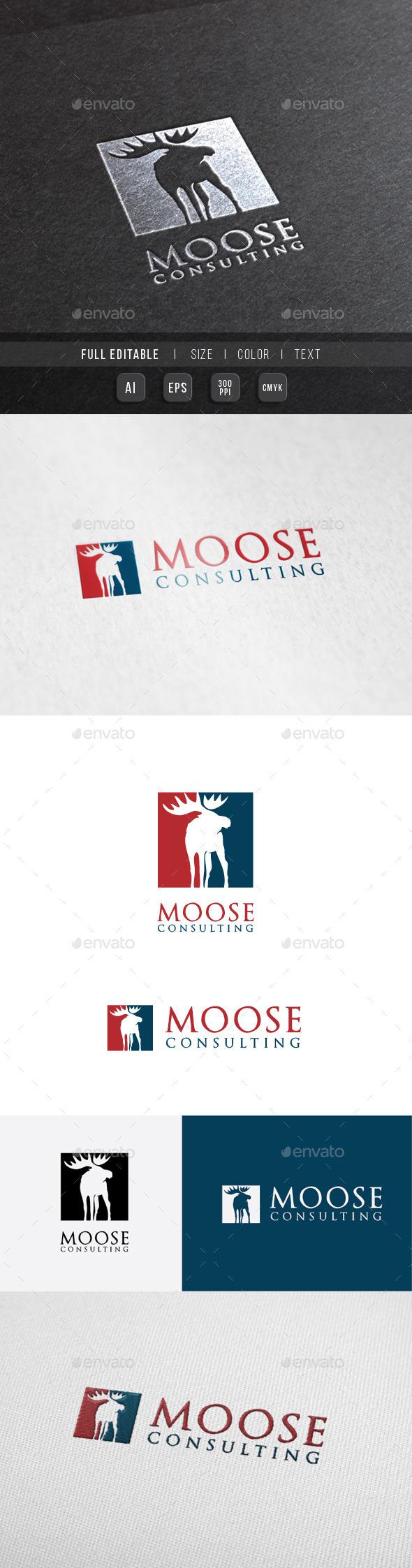Moose Finance - Consulting Logo - Animals Logo Templates