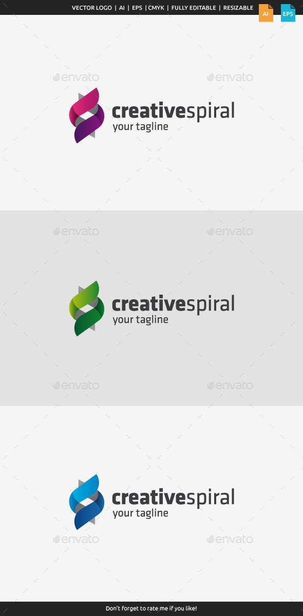 Creative Spiral Logo - Abstract Logo Templates