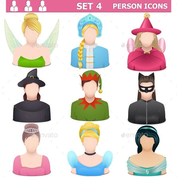 Person Icons Set 4 - People Characters