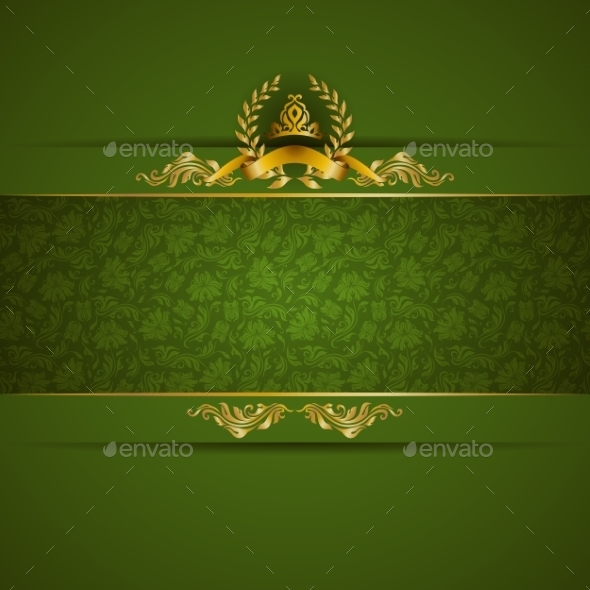Golden Frame Banner - Backgrounds Decorative