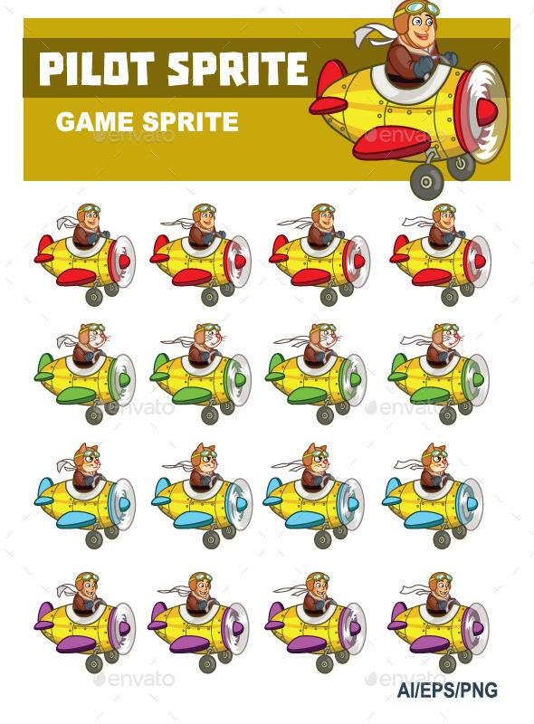 Pilot Sprite - Sprites Game Assets