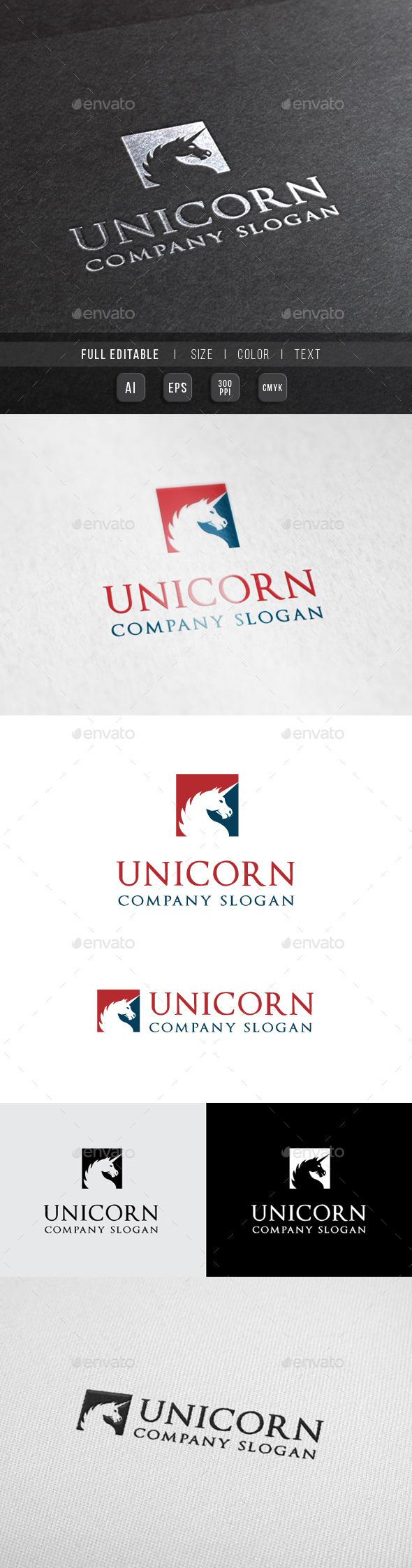 Unicorn Finance - Consulting Logo - Animals Logo Templates