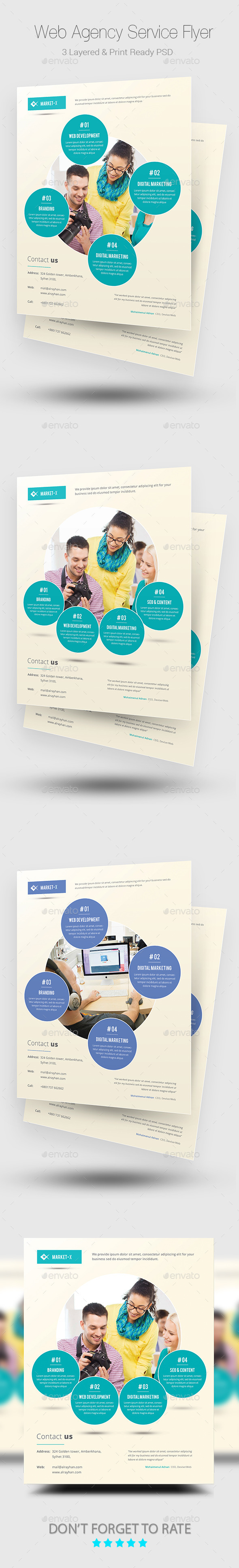 Web Agency Service Flyer Templates - Corporate Flyers