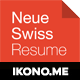 Neue Swiss Resume CV - GraphicRiver Item for Sale