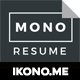 Download Mono Resume from GraphicRiver