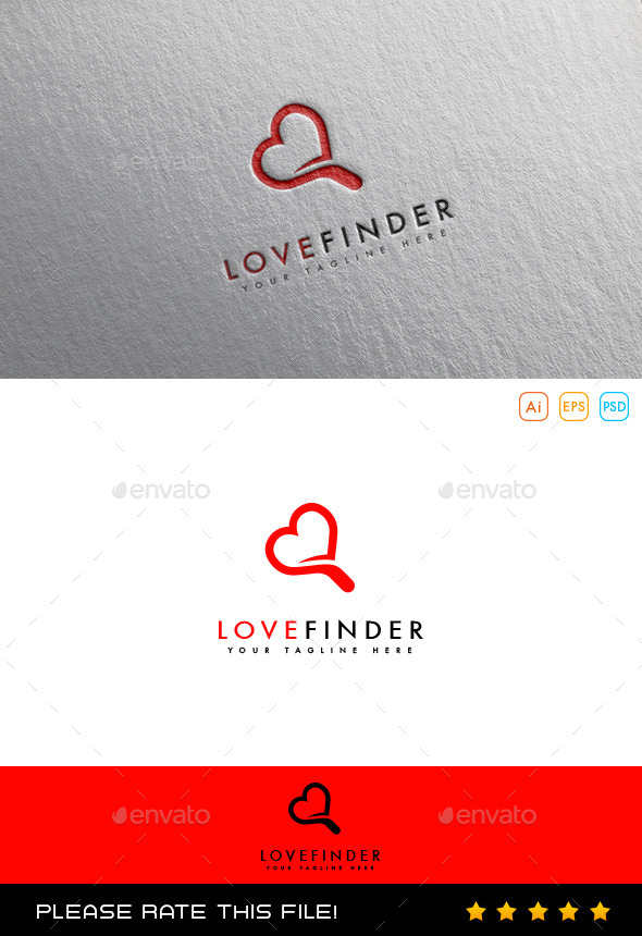 Love Finder Logo - Vector Abstract