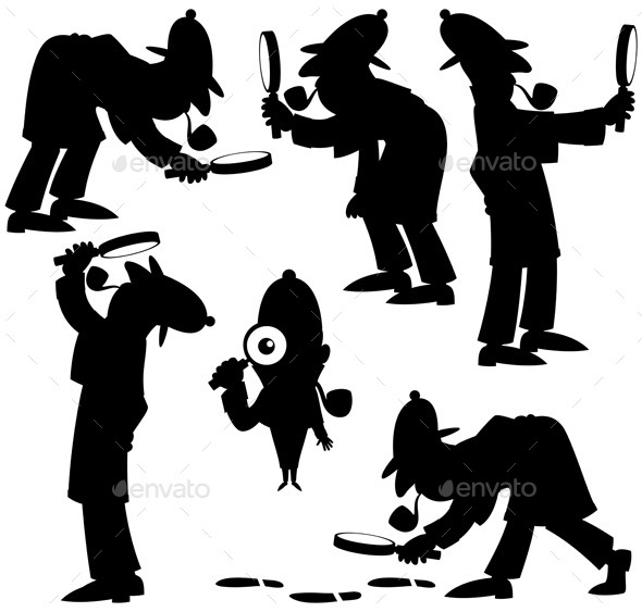 Detective Silhouettes - People Characters